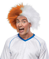 Sports Fun Wig Orange White