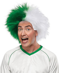 Sports Fun Wig Green White