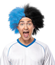 Sports Fun Wig Blue Black