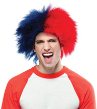 Sports Fun Wig Blue Red