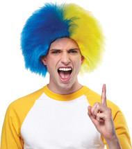 Sports Fun Wig Navy Blue Gold
