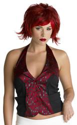 Razor Pixie Wig Burgundy/red