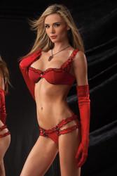 Bra Panty Set Lg Red Black