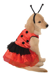 Pet Costume Lovely Ladybug Md