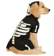 Pet Costume Bones Glows Lg