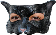 Kitty Black Latex Half Mask