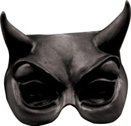 Devil Black Latex Half Mask