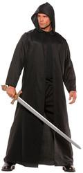 Cloak Black Faux Leather Adult