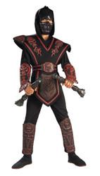 Red Skull Warrior Ninja Chld L
