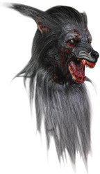 Black Wolf Adult Latex Mask