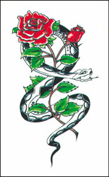 Tattoo Snake W Rose