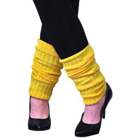 Leg Warmers Adult Neon Yellow