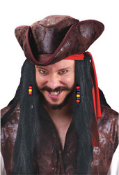 Wig 30 Inch Carribean Pirate