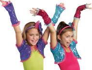 Dance Craze Arm Warmers Turq