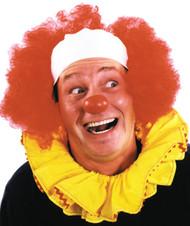 Clown Wig Bald Curly Blue