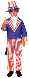 Uncle Sam Child Costume Small