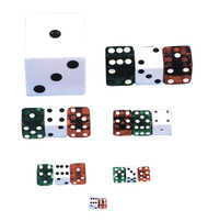 Dice 1/2 Inch  Red