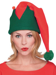 Elf Hat Long Red And Green