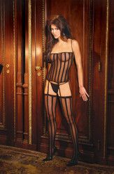 Bustier G String Set Black