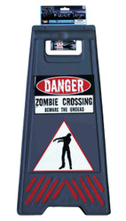 Beware Of Zombie Sign & Tape