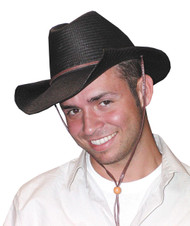 Cowboy Hat Rolled Black