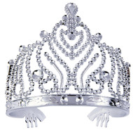 Tiara-plastic Silver