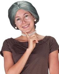 Wig Granny Grey