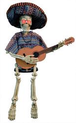 Skeleton Playing Guitar 40in