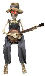 Skeleton Playing Banjo 39 In