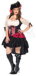 Wicked Wench Peasant Dress Blk