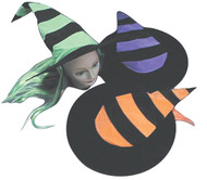 Witch Hat W Hr Chd Org Strp