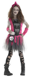 Zombie Girl Costume Child Larg