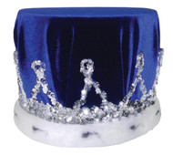 Crown Sequin W Blue Turban