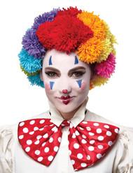 Pom Clown Wig Rainbow