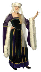 Medieval Lady Adult Xlg. 18-20