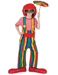 Striped Clown Overalls Ch Lg