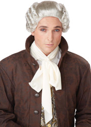 18th Century Peruke Grey Wig