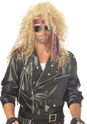 Heavy Metal Rocker Blonde Wig