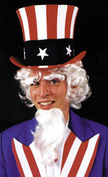 Uncle Sam Wig Goatee Eyebrow G