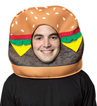 Cheeseburger Open Face Mask