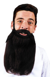Mustache Beard Grey 14in