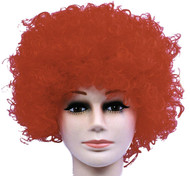 Wig Curly Clown Red Budget