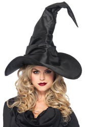 Hat Witch Ruched Large Black