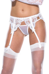 Garter Belt Lace Black
