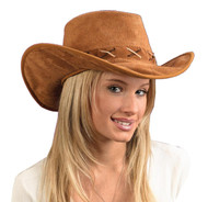 Hat Cowboy Suede-look