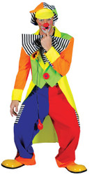 Spanky Stripes Adult Clown Lg