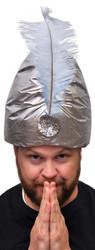 Turban Dlx Silver W Plume