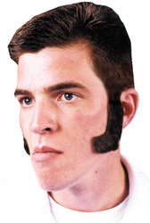 Sideburns Lt Brown Human Hair
