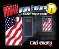 Old Glory Window Poster