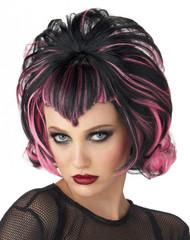 Wig Goth Flip Black Pink